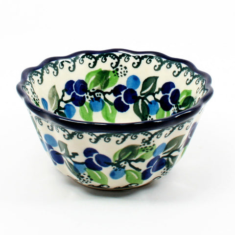 polish-pottery-small-fluted-dish-#1416