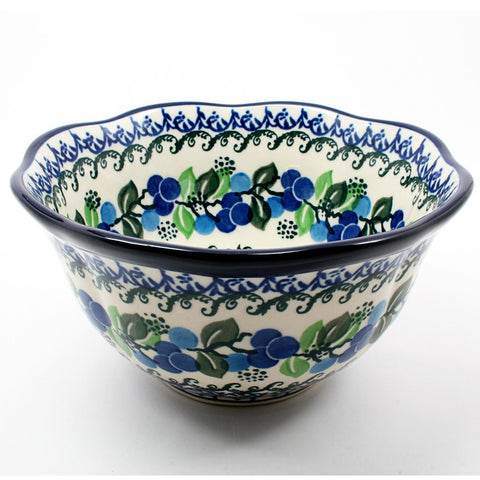 polish-pottery-large-scalloped-bowl-#1416