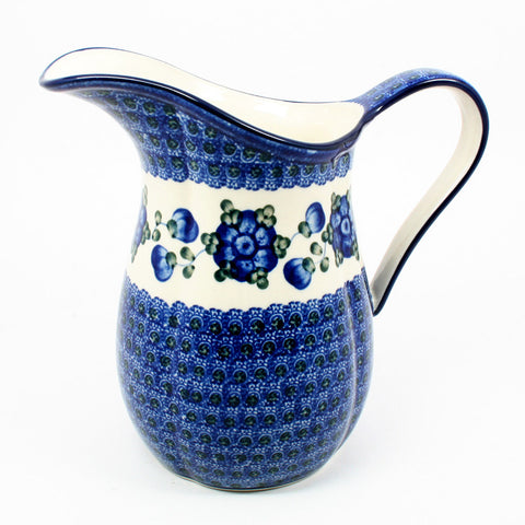 polish-pottery-medium-pitcher-#163