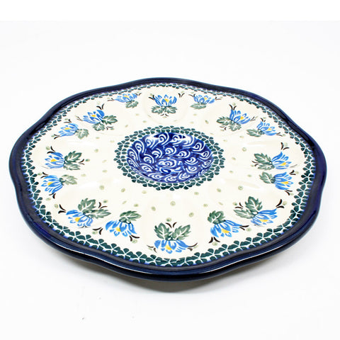polish-pottery-egg-plate-#1231