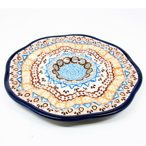polish-pottery-egg-plate-#1359