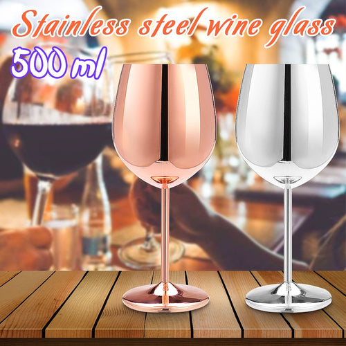 Shatterproof Stainless Steel Wine Glass