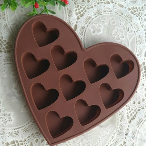 Heart Shaped Silicone Baking Mold