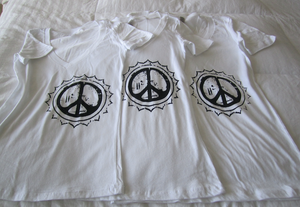 Peace Silk Screen T-Shirt