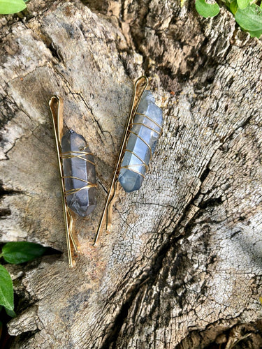 Genuine Aura Quartz Hair Jewelry