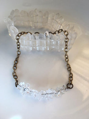Clear Quartz Chain Bracelet