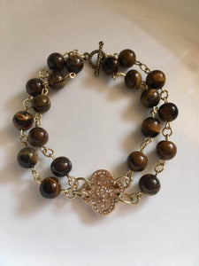 Double Strand Tiger Eye Bracelet