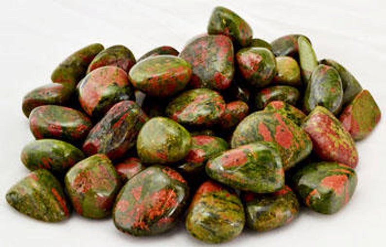 Unakite Energy Gemstones (3 Tumbled)