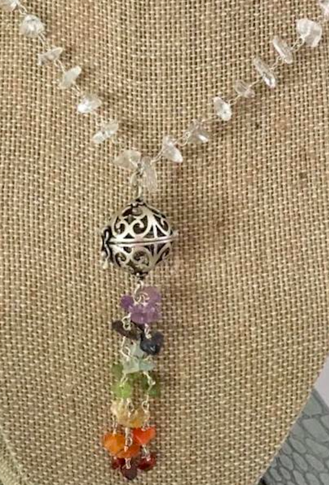 Chakra Necklace with Perfume Charm