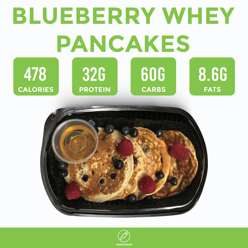 Blueberry Whey Pancakes