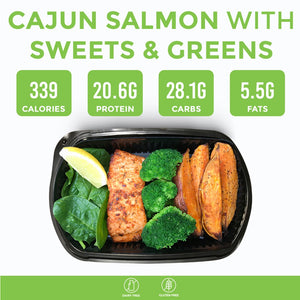 Cajun Salmon With Sweets & Greens