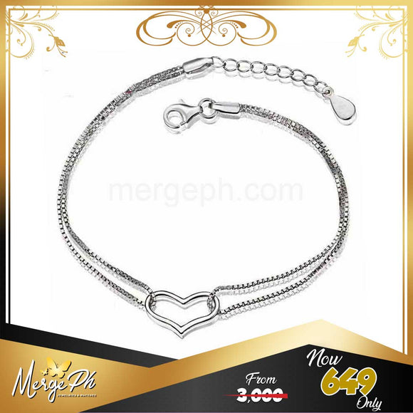 Merge Genuine Silver Bangle Bracelet BB001