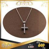 Merge Cross Necklace With Stones CNS001