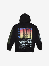Load image into Gallery viewer, ERYS TOUR HOODIE, BLACK