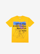 Load image into Gallery viewer, ERYS: TOUR T-SHIRT, YELLOW