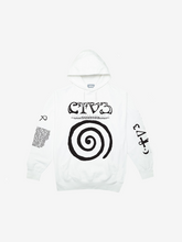 Load image into Gallery viewer, CTV3: COOL TAPE VOLUME 3 TOUR HOODIE, WHITE + DIGITAL ALBUM