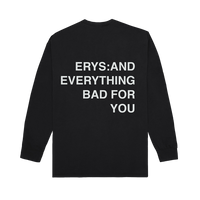 ERYS LONG SLEEVE T-SHIRT, BLACK