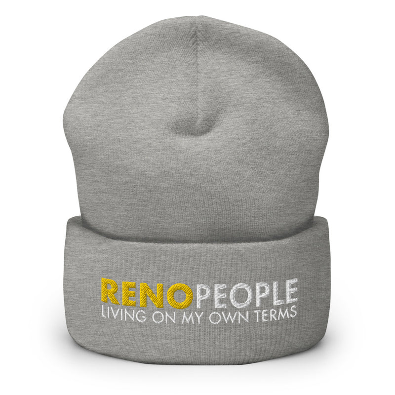Reno People Living on My Own Terms Cuffed Beanie