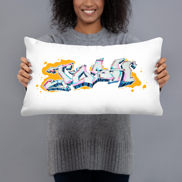 Graffiti Piece Josh Basic Pillow