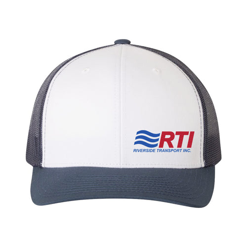 Snapback Hat- White/Navy