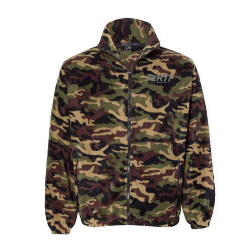 * PREORDER CLOSED - Camo Fleece Full Zip Jacket