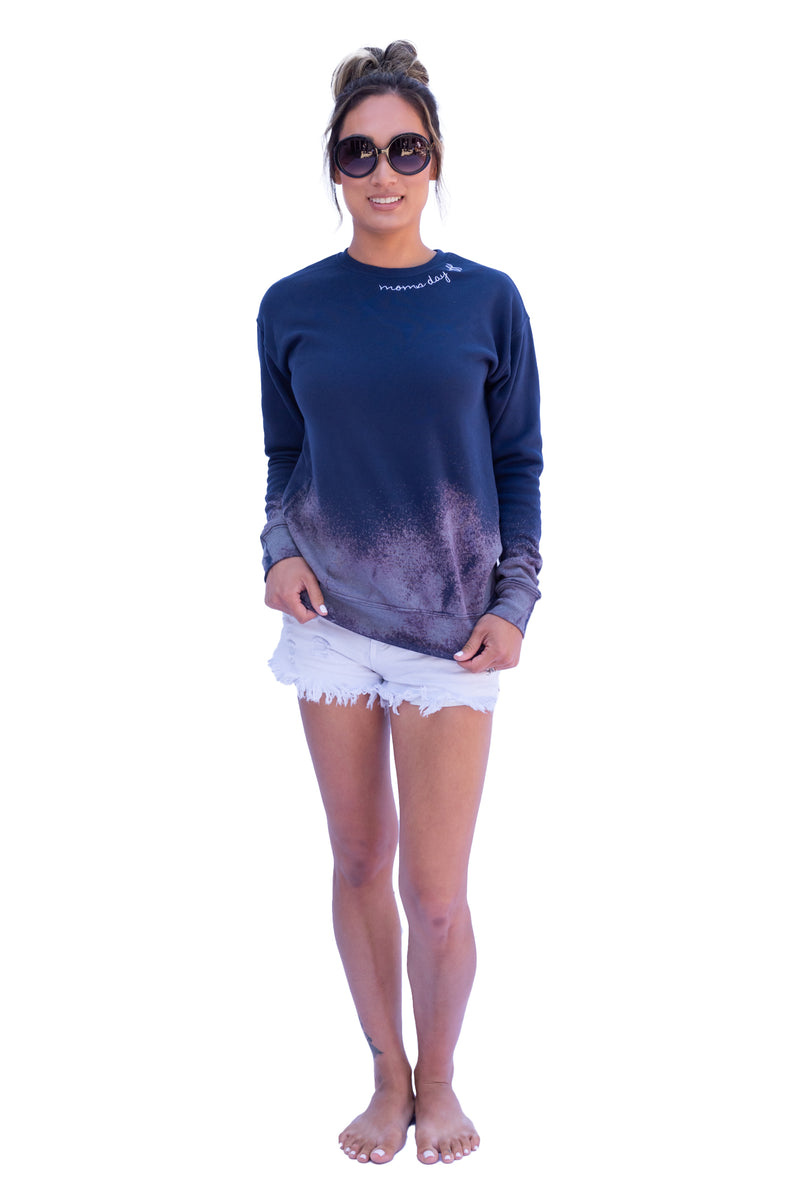 Mom's Day Off Sweatshirt Tie Dye Blue