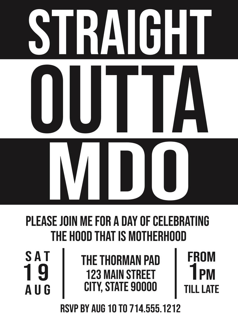 Straight Outta MDO Invitation