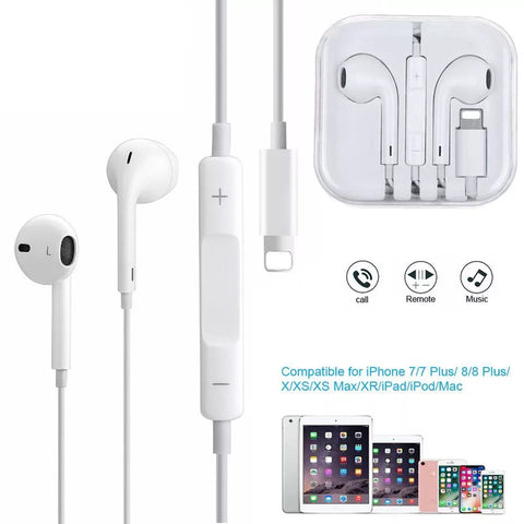 High Quality Lightning Connector Earphone for iPhone 7/8/X & 11 Series