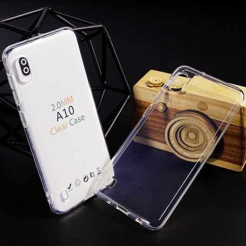 CLEAR JELLY Soft TPU Back Case For Samsung A10