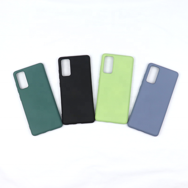Liquid Soft Silicone Candy Color Back Case For Samsung S21 Plus