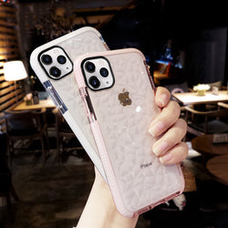 iPhone 12/12 Pro (6.1) Diamond Luxury Transparent Soft Jelly Clear Back Cover