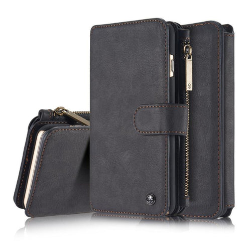 CaseMe 007 Multi-function Magnetic Zipper Wallet Case for iPhone X/XS