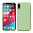 Liquid Soft Silicone Candy Color Back Case For iPhone X/XS