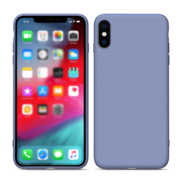 Liquid Soft Silicone Candy Color Back Case For iPhone XS Max