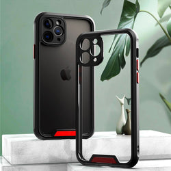iPhone XR Clear Acrylic Shockproof Armor Case With Silicone Frame