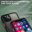 iPhone 12 Pro Max Clear Acrylic Shockproof Armor Case With Silicone Frame