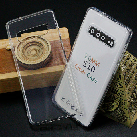 CLEAR JELLY Soft TPU Back Case For Samsung S10