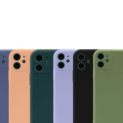 Liquid Soft Silicone Candy Color Back Case For iPhone 11 Pro Max