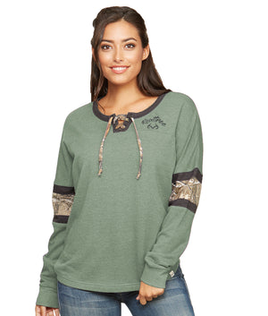 Stave Lace Up Fleece Pullover