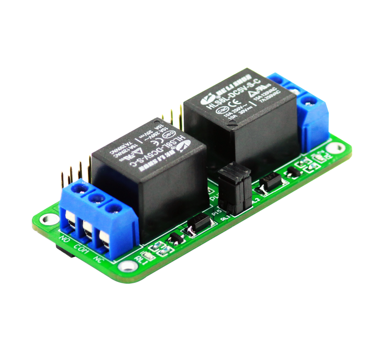 Zero Relay - 2 Channel 5V Relay Board for Raspberry Pi