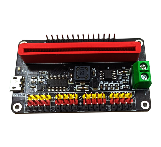 Servo Driver HAT for micro:bit, 16 Channel 12-bit Servo Driver - I2C Interface Module