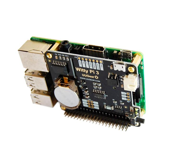 REALTIME CLOCK AND POWER MANAGEMENT FOR RASPBERRY PI WITTY PI 2