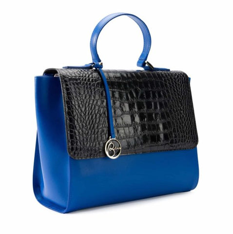 Image of Top Handle leather bag crocodile print