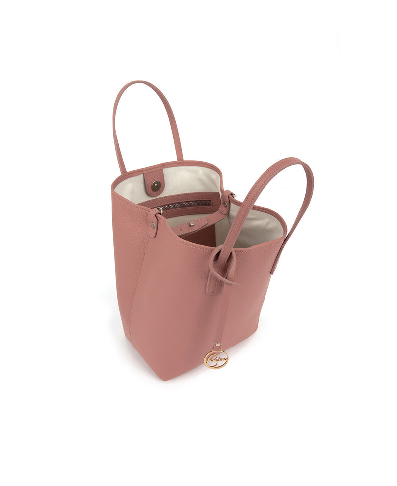 Frida X bucket leather bag bubblegum pink