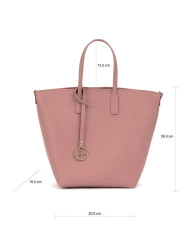 Image of Frida X bucket leather bag bubblegum pink