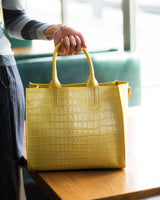 Florence Tote leather bag croco-embossed