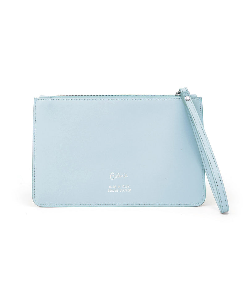 Glitter and Leather Purse baby blue colour