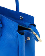 Luigia Leather Bag Lizard Print cobalt blue