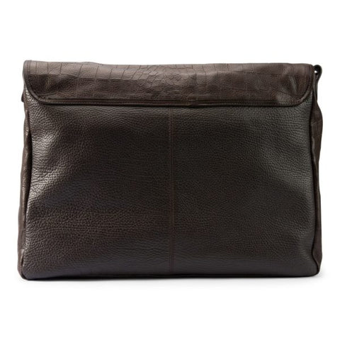 Image of Leather men's messenger brown