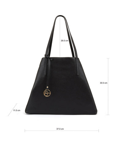 Frida Tote leather bag black